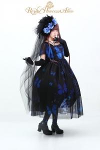 ⑷Gothic Butterflyドレス【ゴシックバタフライドレス】(ブルー)